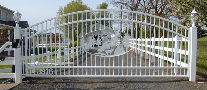 Ornamental Iron Automatic Single Swing Drive Gates Gallery 2