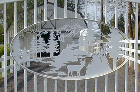 Automatic Single Swing Drive Gates Ornamental Iron Gallery 2