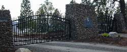 Double Drive Entry For A Premier Winery, Arbor Crest, In Spokane Washington