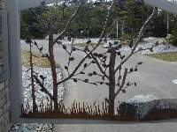 All of the artistic trees are hand made